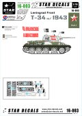 STAR DECALS[SD16-003]1/16 WWII露 T-34/76 mod.1943 レニングラード戦線