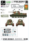 STAR DECALS[SD16-004]1/16 WWII露 T-34/76 mod.1943 レニングラード戦線 第30親衛戦車旅団