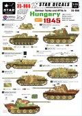 STAR DECALS[SD35-866] 1/35 WWII独 ハンガリー1945 #3 IV号駆逐戦車L/70,III突G型,パンターG型,Sd.Kfz.251/9 シュツンメル デカールセット