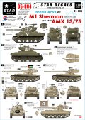 STAR DECALS[SD35-884]1/35 イスラエルのAFV #3 M1シャーマン、AMX13/75 デカールセット