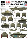 STAR DECALS[SD35-886]1/35 サイパン '44 米陸軍/海兵隊車両 デカールセット