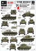 STAR DECALS[SD35-892]1/35 WWII 英第7機甲師団 北西ヨーロッパの「砂漠のネズミ」 デカールセット