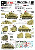 STAR DECALS[SD35-893]1/35 WWII 英軍のM3グラント 北アフリカ戦線 デカールセット