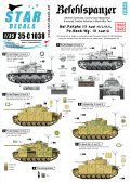 STAR DECALS[SD35-C1038]1/35 WWII独 III号指揮/観測戦車 デカールセット J/K/L型,G型