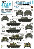 STAR DECALS[SD35-C1054]1/35 ソビエト/ロシア軍の海軍歩兵 #1 T-54B,T-55A,T-55AM デカールセット