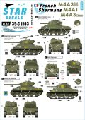 STAR DECALS[SD35-C1103]1/35 自由フランス軍のシャーマン#2 M4A3,M4A3 105mm, M4A3(76)