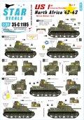 STAR DECALS[SD35-C1105]1/35 WWII米 第1機甲師団#3 M3リー 北アフリカ1942-43