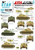STAR DECALS[SD35-C1106]1/35 ブルガリア軍のIV号戦車