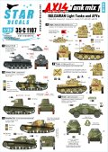 STAR DECALS[SD35-C1107]1/35 ブルガリア軍の軽戦車とAFV