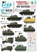 STAR DECALS[SD35-C1111]1/35 レバノンの戦車と装甲車両デカールセット#4 汎用部隊マーキング1