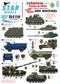 STAR DECALS[SD35-C1114]1/35 レバノンの戦車と装甲車両デカールセット#7 汎用部隊マーキング4