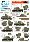STAR DECALS[SD35-C1120]1/35 ビルマ戦線の英軍M3リー