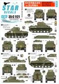 STAR DECALS[SD35-C1121]1/35 ビルマ戦線の英軍M4Mk.V(M4A4)