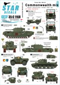 STAR DECALS[SD35-C1168]1/35 イギリス連邦共同体のマーキング 朝鮮戦争1950-53年 チャーチル、ジープ、ユニバーサルキャリア、クロムウェル、ディンゴ SC