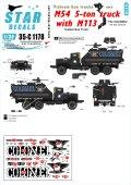 STAR DECALS[SD35-C1178]1/35 現用 米 ベトナム戦争 ベトナムにおけるガントラック#3 M54 5トントラックにM113車体を載せたガントラック'THE COLONEL(大佐)'(青文字)