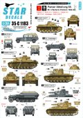 STAR DECALS[SD35-C1183]1/35 WWII ドイツ ブラウ作戦とスターリングラード #1 II号戦車F型、III号戦車J型、MB170VK、キューベルワーゲン他