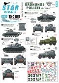 STAR DECALS[SD35-C1187]1/35 WWII ドイツ 秩序警察所属の装甲車 #2 戦車と装甲車のマーキング集 BA-10M、IV号戦車F型他