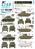 STAR DECALS[SD35-C1194]1/35 WWII 豪 オーストラリア軍の戦車と装甲車 #6 ニューギアの戦い マチルダII火炎放射戦車、M4シャーマンコンポジット等