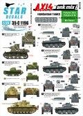 STAR DECALS[SD35-C1196]1/35 WWII 枢軸軍に参加した東ヨーロッパの戦車 #6 第二次大戦におけるハンガリーの戦車 38(t)戦車、III号戦車M型他