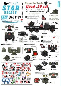 画像1: STAR DECALS[SD35-C1199]1/35 ベトナム戦争 米陸軍 ガントラック#6 四連装M2銃座搭載のガントラック バウンティーハンター
