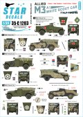 STAR DECALS[SD35-C1203]1/35 WWII 米 英連邦 連合軍 M3A1ホワイトスカウトカー1943〜45年のイタリア戦線で連合軍に就役したM3A1 自由ポーランド軍、ニュージーランド軍、南アフリカ軍、イギリス陸軍