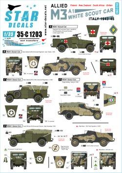 画像1: STAR DECALS[SD35-C1203]1/35 WWII 米 英連邦 連合軍 M3A1ホワイトスカウトカー1943〜45年のイタリア戦線で連合軍に就役したM3A1 自由ポーランド軍、ニュージーランド軍、南アフリカ軍、イギリス陸軍