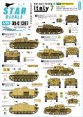 STAR DECALS[SD35-C1207]1/35 WWII 独 イタリア戦線のドイツ戦車#7 III号突撃砲G型 セモベンテda75/18 75/34