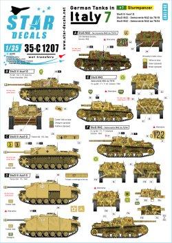 画像1: STAR DECALS[SD35-C1207]1/35 WWII 独 イタリア戦線のドイツ戦車#7 III号突撃砲G型 セモベンテda75/18 75/34