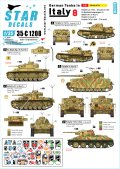 STAR DECALS[SD35-C1208]1/35 WWII 独 イタリア戦線のドイツ戦車#8 III号指揮戦車G型 III号指揮戦車J型 IV号戦車H型 L3豆戦車 T-34/76