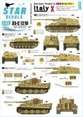 STAR DECALS[SD35-C1210]1/35 WWII 独 イタリア戦線のドイツ戦車#10 III号突撃砲G型 タイガーI後期型 ナースホルン