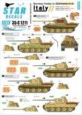 STAR DECALS[SD35-C1211]1/35 WWII 独 イタリア戦線のドイツ戦車#11 パンターA型及びパンターG型初期型