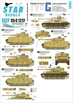 画像1: STAR DECALS[SD35-C1212]1/35 WWII独 IV号戦車G型後期生産型 東部戦線1943〜44年