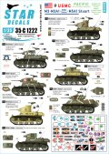 STAR DECALS[SD35-C1222]1/35 WWII 米 太平洋戦線に於けるアメリカ海兵隊所属のM3&M3A1とM5A1スチュアート