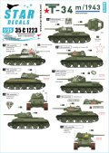 STAR DECALS[SD35-C1223]1/35WWII ロシア/ソ連 ソビエト赤軍 T-34/76 1943年型