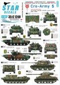 STAR DECALS[SD35-C1240]1/35 現用 バルカン半島  クロアチア陸軍#5 クロアチアの装甲車と戦車 1991-93年