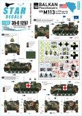 STAR DECALS[SD35-C1257]1/35 バルカン半島の平和維持軍#10 IFORのマーキングが施された米陸軍所属のM113