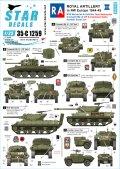 STAR DECALS[SD35-C1259]1/35 WWII 英 英国王立砲兵隊♯2 北西ヨーロッパのクロムウェル戦車 M10ウルヴァリン アキリーズ駆逐戦車