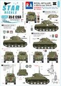STAR DECALS[SD35-C1260]1/35 WWII 英 英国王立砲兵隊♯3 北西ヨーロッパのシャーマンOP戦車 M7プリースト