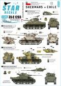 STAR DECALS[SD35-C1265]1/35 近代 南米 チリで運用されたシャーマン戦車 M4A1E9 M51/60スーパーシャーマン