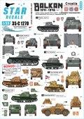 STAR DECALS[SD35-C1270]1/35 WWII 独/伊 バルカン半島WWII#1 第二次世界大戦のクロアチア ウスタシャ民兵組織所属の戦車