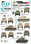 STAR DECALS[SD35-C1279]1/35 現用 中東戦争 レバノンの戦車とAFV#9 レバノン軍と民兵組織が運用したシャーマンファイアフライとM50スーパーシャーマン