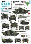 STAR DECALS[SD35-C1294]1/35 現用 英 バルカン半島の平和維持軍#12 英国SFOR混成部隊チャレンジャー1/チャレンジャー2/シミターCVR(T)/FV432