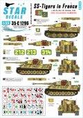 STAR DECALS[SD35-C1296]1/35 WWII 独 フランスでのドイツ武装SSのタイガー#5 奇数の砲塔番号 SS第101重戦車大隊 1944年夏