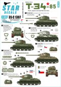 STAR DECALS[SD35-C1307]1/35 WWII 東欧諸国でのT-34/85中戦車 ポーランド/ユーゴスラビア/チェコ赤軍