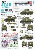 STAR DECALS[SD35-C1310]1/35 WWII 米軍AFV特集#3 欧州戦線の第6機甲師団 M4シャーマン/M5A1スチュアート/M3A1ハーフトラック