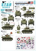 STAR DECALS[SD35-C1311]1/35 WWII 米軍AFV特集#4 欧州戦線でのM5A1スチュアート軽戦車1944〜45