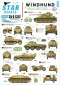 STAR DECALS[SD35-C1312]1/35 WWII 独 グレイハウンド#1 第116装甲師団 IV号戦車J型 SdKfz234/1 BMW R75サイドカー Sdkfz250/9 Sdkfz251/1D IV号駆逐戦車 L/48