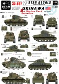 STAR DECALS[SD35-897] 1/35 WWII米 沖縄の海兵隊第6戦車大隊 M4A3 デカールセット