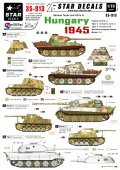 STAR DECALS[SD35-913] 1/35 ドイツ戦車 ハンガリー1945 パンターG、ティーガーII、マーダーII デカールセット
