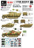 STAR DECALS[SD35-914] 1/35 SD.Kfz.251 Ausf.D 東部戦線1945 デカールセット